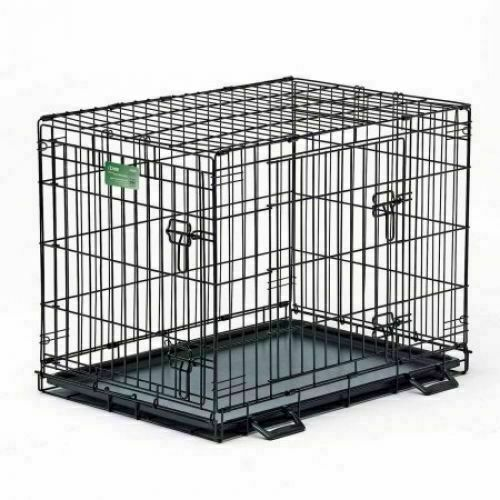 Vibrant Life Single Door Folding Wire Dog Crate with Divider 36 inch