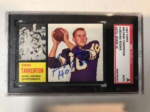 Fran-Tarkenton-1962-Topps-Auto-Rc-Autograph-Signed-Grade-10-SGC