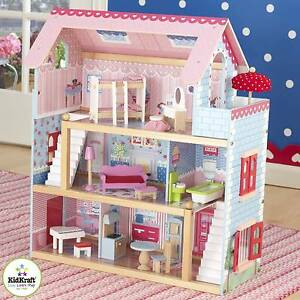 kidkraft chelsea doll cottage with furniture pink ebay rh ebay com chelsea doll cottage playset chelsea doll cottage kidkraft