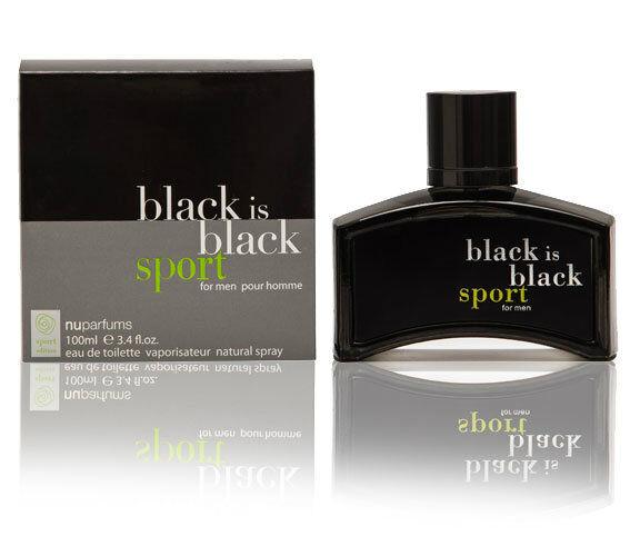 Nu Parfums Black is Black Sport for Men Spray 100ml *NEW & SEALED*