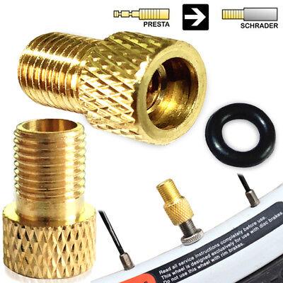 Oxford Brass Adaptor Presta To Schrader Valve Bike Car Pump Adaptor 2 Pieces