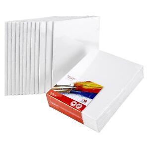 Artlicious-CANVAS-PANELS-12-PACK-8-034-X10-034-SUPER-VALUE-PACK-Artist-Canvas-Pa