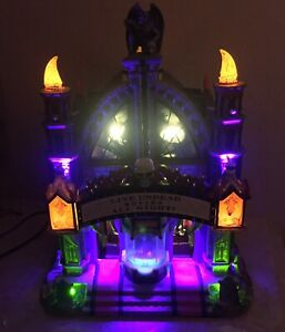Lemax Spooky Town 2007 Mortis Theater Halloween Village Lights Sound 75496 READ