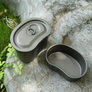 Hiking Mess Cooking Set Camping Hiking Army Titanium Military Cookware Outdoor