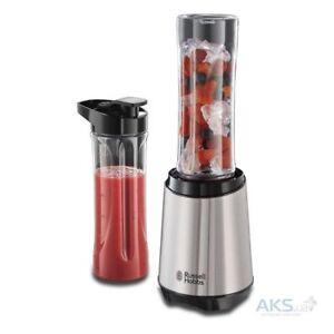 Russell-Hobbs-23470-56-Frullatore-smoothie-maker-Mix-amp-Go-Acciaio-inox-300-Watt
