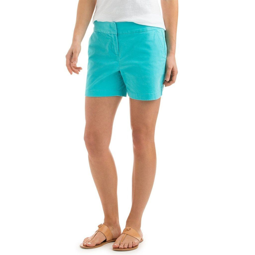 Vineyard Vines Women's 5 inch inseam Classic Shorts  Solid in Turquoise  68.00
