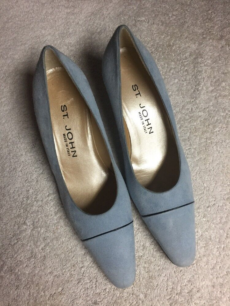 St. John Women's bluee Suede Leather Made In  Dress shoes Size 6 B