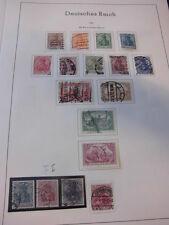 Sammlung Deutsches Reich 1900-1923 ca. 440 Marken, gestempelt ungebraucht (1525)