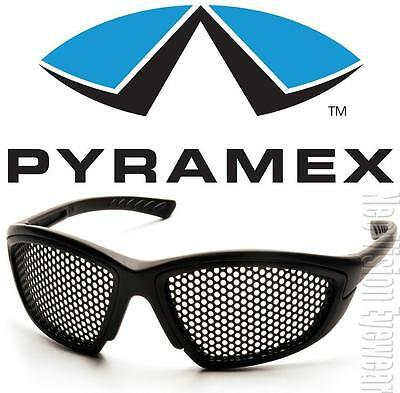 Pyramex Trifecta Punched Steel Mesh Lens Safety Glasses Anti Fog Z87+