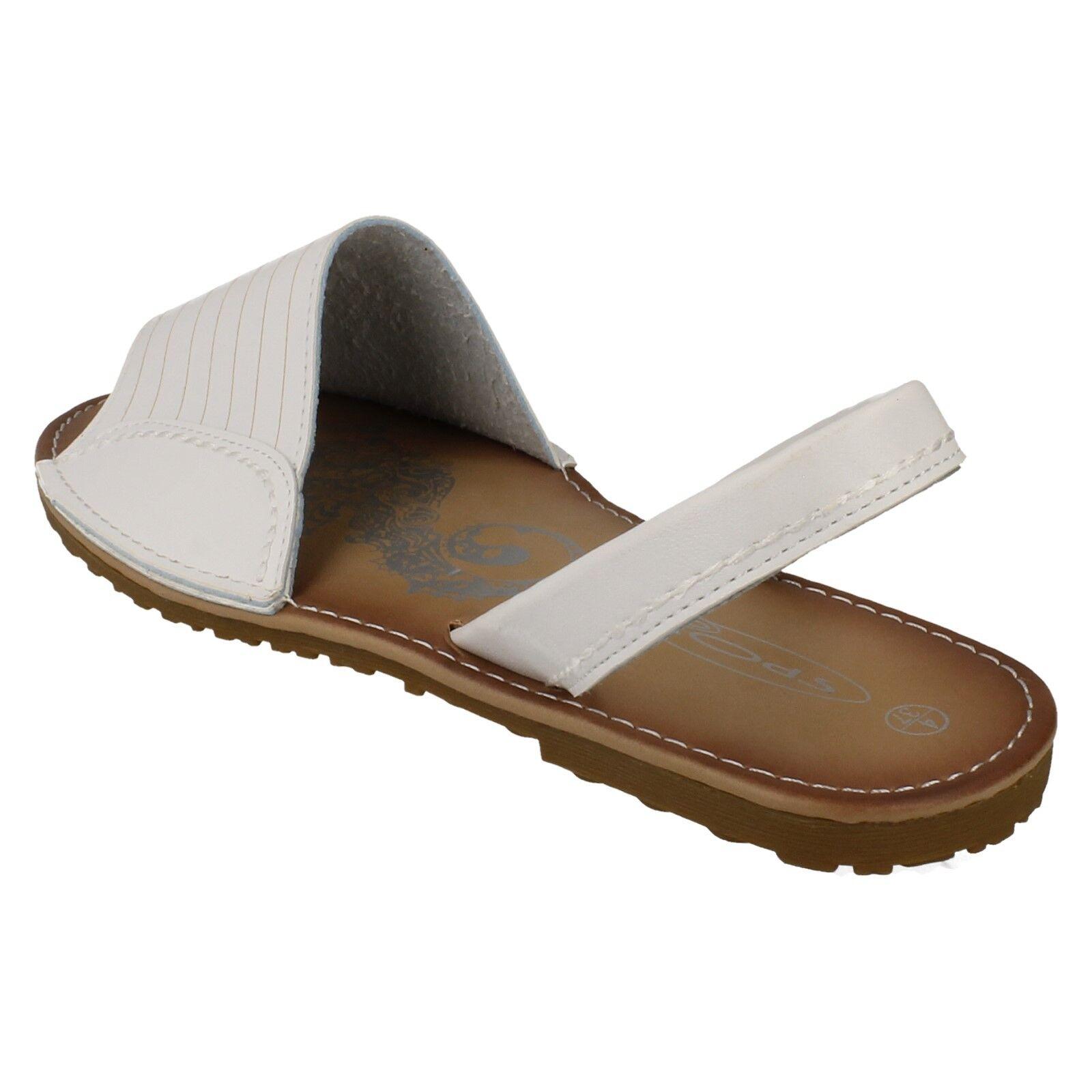 SALE LADIES BAMBOO FLAT PEEP TOE ELASTICATED SLIP ON MULE SUMMER SANDALS F0R690