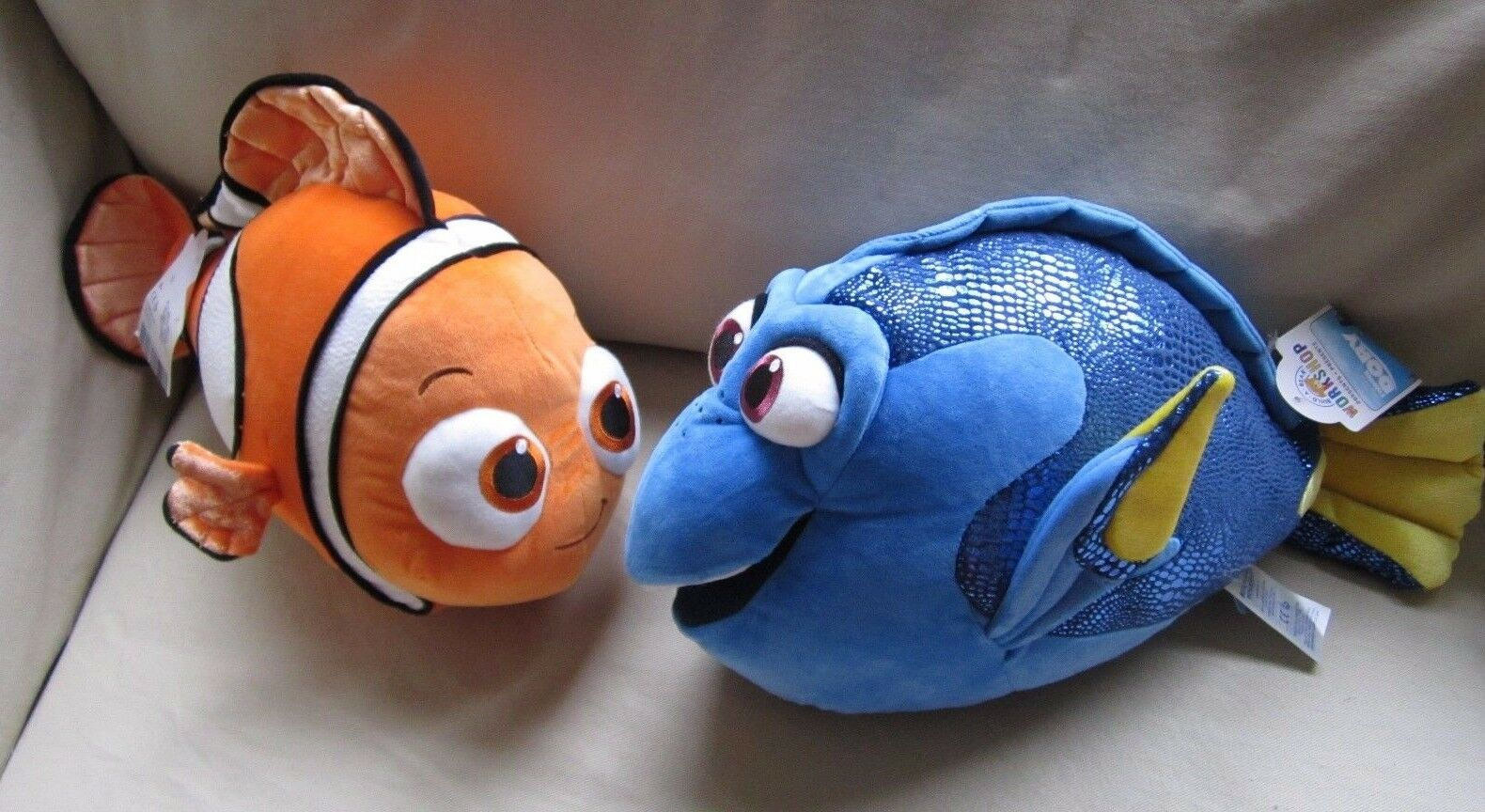 NWT BUILD A BEAR Finding Dory Nemo & Dory Lot Set Of 2 Stuffed Full Size Plush