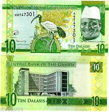 Gambie GAMBIA Billet 10 Dalasis ND 2015 OISEAU DR JAMMEH NOUVEAU NEW UNC NEUF