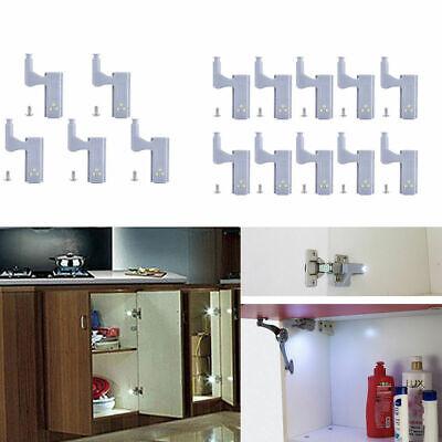 Cabinet Hinge LED Sensor Light Wardrobe Cupboard Home Kitchen Door Closet