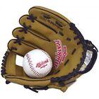 Midwest Kids Glove & Ball Set Brown/black 9 Inch