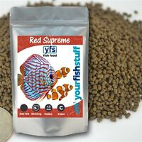 Yfs Red Supreme Sinking Pellets 1.5mm Bulk Aquarium Fish Food 1/4lb To 5lbs
