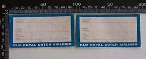 VINTAGE-KLM-ROYAL-DUTCH-AIRLINES-LUGAGGE-BAGGAGE-ID-TAGS-LABELS-STICKERS