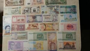 Nice-Lot-of-25-Different-World-Banknotes-Mixed-Currency-Unique-Set-of-Bills