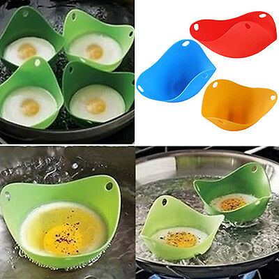 Silicone Egg Poacher Cook Poach Pods Kitchen Tool Baking Cookware Cup Wonderful