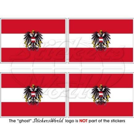 Autriche Etat Drapeau Autrichien Autriche Vinyle Autocollant Sticker 50 mm x4