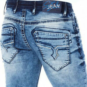 Cipo-amp-Baxx-Tampa-Herren-Jeans-Denim-Slim-Fit-Alle-Groessen