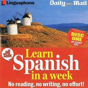 Learn-Spanish-In-A-Week-Full-Set-of-Eight-Discs-Audio-CD-N-Paper