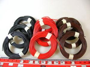 (0,15 €/m) 120 M Torons-set Rouge/marron/noir Par Exemple Pour Märklin Spécialiste #q10x2-arz Z.b.für Märklin Modellbahn #q10x2