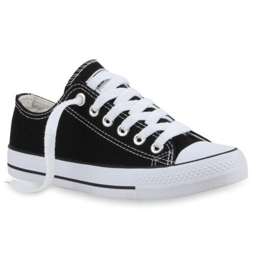 Kinder Damen Herren Sneakers Sportschuhe Freizeit Stoffschuhe 99338 Trendy
