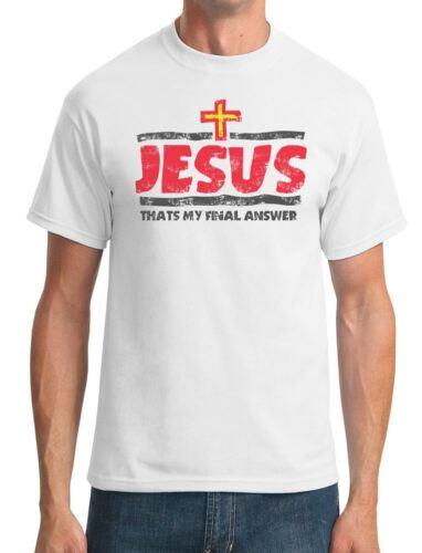 Jésus-c/'est ma réponse définitive-Cool T-Shirt Homme religieux