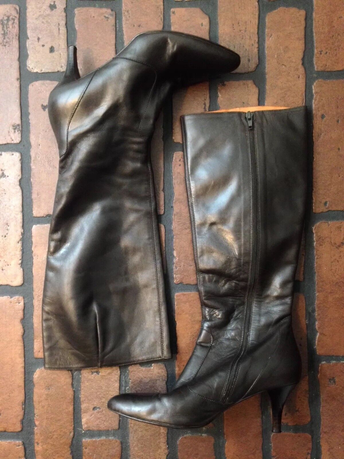 J. Crew Knee-high Boots Brown Leather Size 8.5