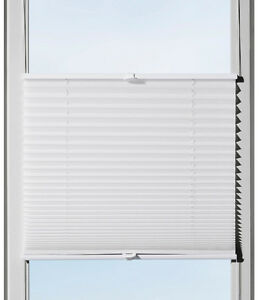 klemm plissee beidseitig verspannt wei klemmfix plissee arica 40 120 cm breit ebay. Black Bedroom Furniture Sets. Home Design Ideas