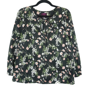 J-Crew-Liberty-Art-Fabric-Point-Sur-Peasant-Top-Womens-Black-Floral-XS