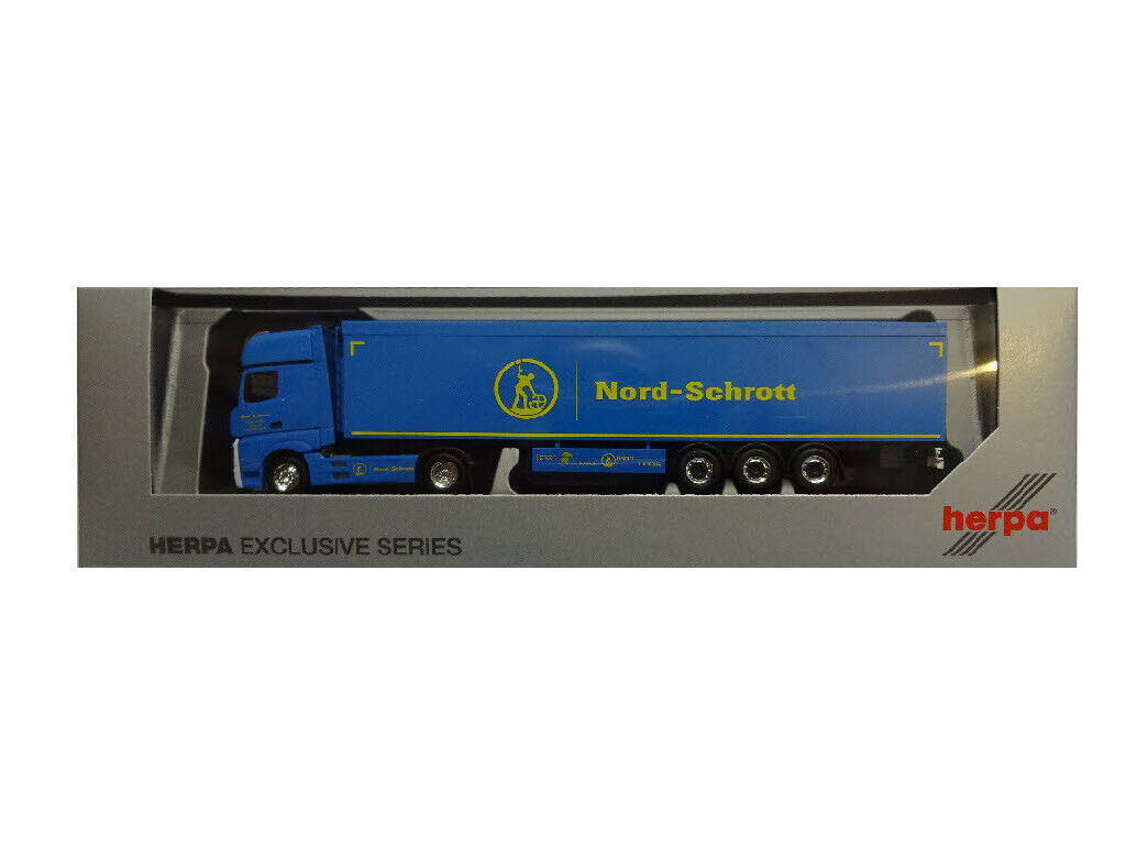 Herpa 936583 MB actros gigaspace schubboden remolCochese norte-chatarra 1 87 nuevo
