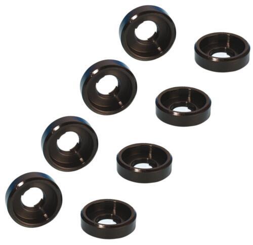 8 Stück Unterlegscheiben mit Rand M6 schwarz Kunststoff Polyamid U Scheiben NEU