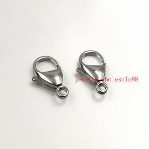 10pcs Lot Jewelry Findings accessories Stainless steel lobster clasps & Hook