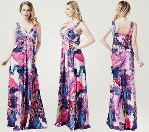 ab1ef9a14e6 Image is loading MAXI-Dress-holiday-resort-wear-Maternity-Plus-size-