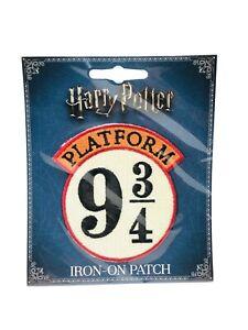 NEW-Harry-Potter-9-3-4-Train-Platform-Logo-Embroidered-Patch-SEALED