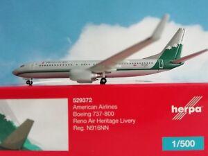 Herpa-Wings-1-500-American-Airlines-Boeing-737-800-Reno-Air-Heritage-Livery