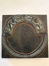 Vintage Wood Metal Print Block Ink Stamp Letter Press Keen