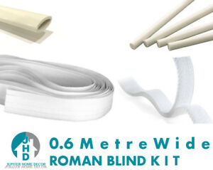 Roman Blind Starter Kit 60cm 4 X Rods 4 X Tape 2 X