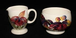 Moorcroft-ORCHIDS-Creamer-and-Open-Sugar-Bowl-on-White-or-Cream
