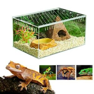Transparent-Acrylic-Pet-Reptile-Terrarium-Habitat-Breeding-Box-Turtle-Tank
