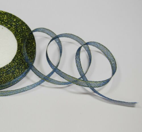 Sparkle Double Faced Glitter Ribbon Various Colours and Widths
