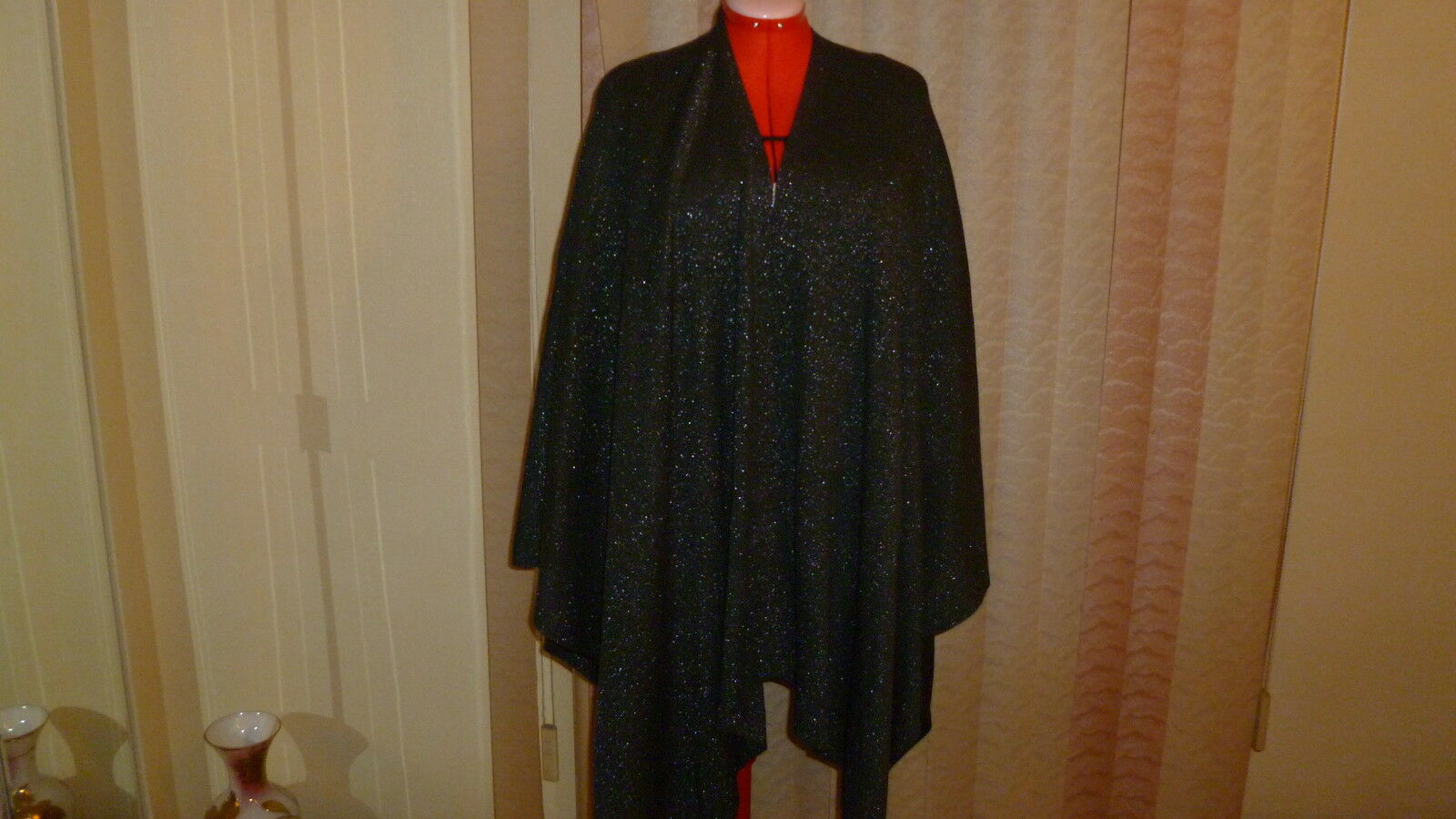 NWT ECHOgesign knit lightweight open front poncho in charcoal one size 1X to 5X