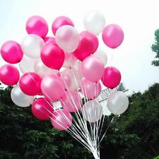 100 Count Pearl Latex Balloons White Light Pink Dark Pink Wedding Birthday Party