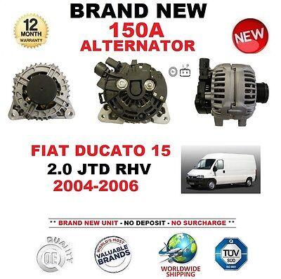 150Amp COMPLETE ALTERNATOR FIAT DUCATO 2.0 JTD 2004-2006 DIESEL