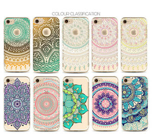 Mandala-Pattern-Rubber-Soft-TPU-Silicone-Back-Case-Cover-For-iPhone-5s-6s-7-Plus