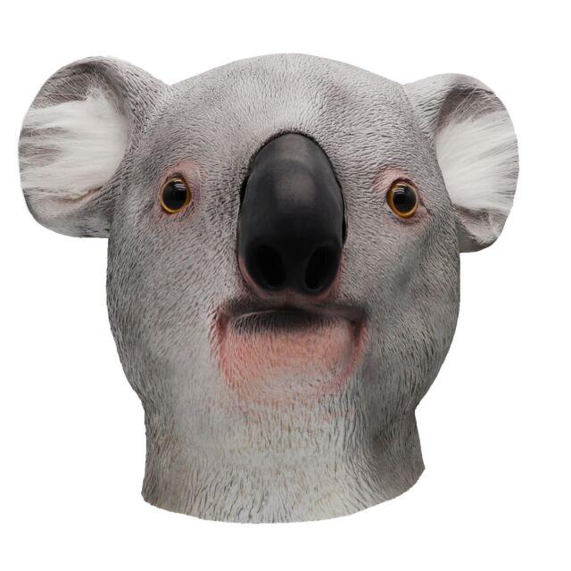 ifkoo Koala Head Mask Deluxe Novelty Halloween Costume ...