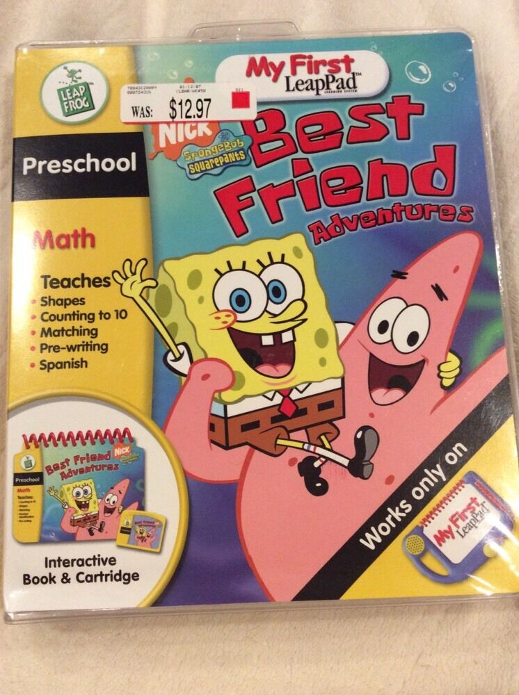 My First Leap Pad Book And Cartridge Spongebob Squarepants Best Friend Adventure
