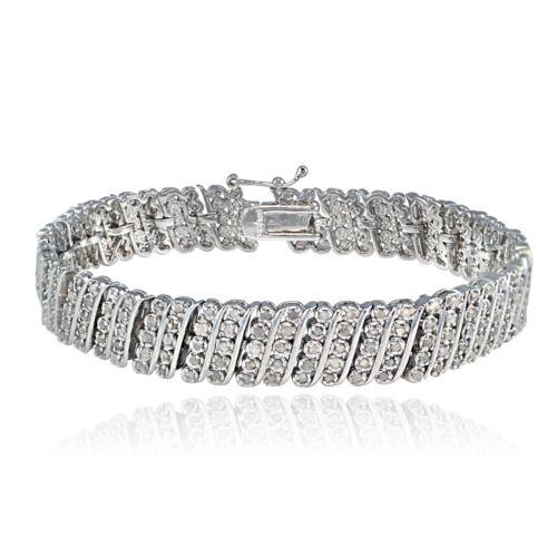 2 Carat TDW Diamond Wave Tennis Bracelet
