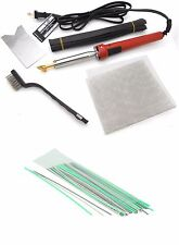 Plastic Welding iron Kit + 50 PC Rods ABS PP PVC TPO TEO PP Boat Auto Car Bumper